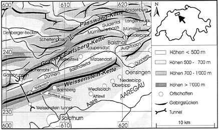 Übersichtskarte Solothurner Jura