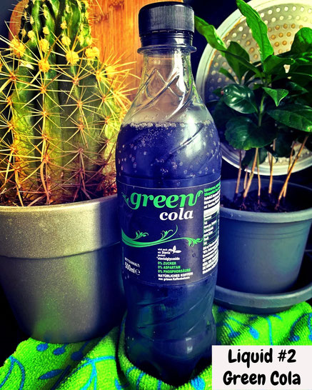 Green Cola liquid tasting