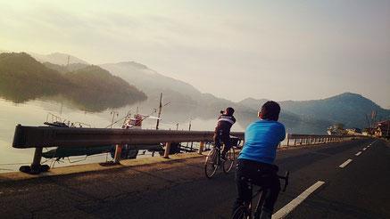 西郷湾 霧