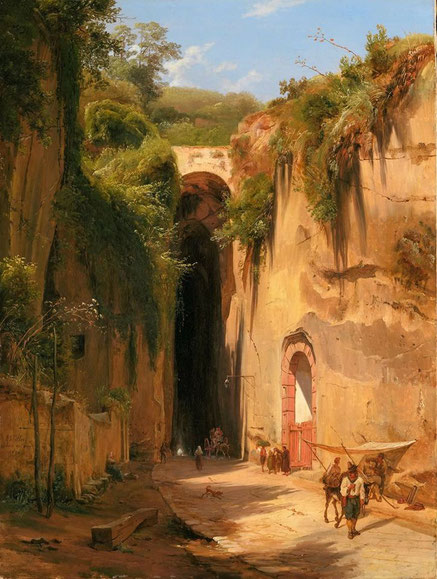"""Anton Sminck van Pitloo, """"La Grotta di Posillipo"""" (1826)"""