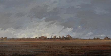 "Martin Guido Becker, ""Ebene, 2007, Öl/Lwd, 55/110 cm"