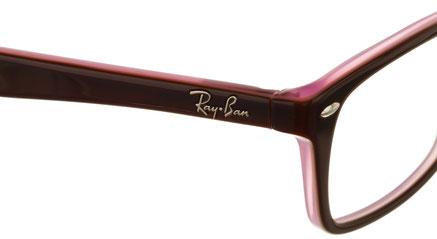 Occhiali da vista Ray-Ban donna 5228. Colore: 2126 marrone e rosa. Calibro: 50-17. Prezzo € 128,00. Spedizione gratis. Forma: squadrato. Materiale: acetato.