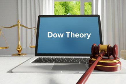 デイトレードのコツ 画像は項目の一つダウ理論 ダウ理論は英語では「Dow Theory」(ダウ セオリー)