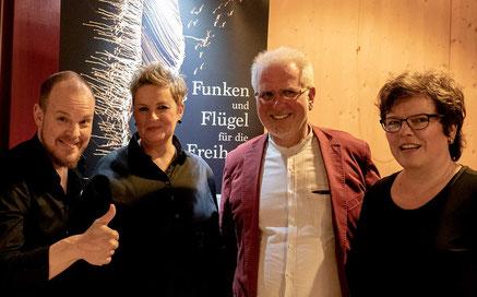 Benjamin Seipel, Christina Brudereck, Hans-Walter Nagel, Susanne König (Foto © Jens Putzier)