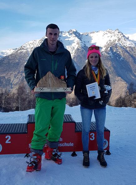 Die beiden schnellsten Unterbächner von 2019; Melanie Zahno und Daniel Stoffel.