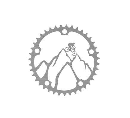Mountainbike Wandbild aus Metall