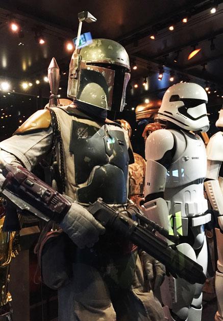image: nina luca, star wars, star wars identities, star wars münchen, star wars exhibition, yedi, lightsaber, boba fett, stormtrooper, bounty hunter