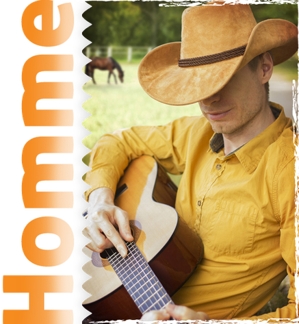 Homme habillé western country