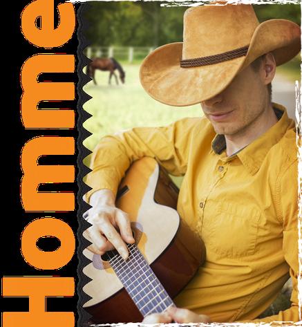 Homme habillé western country