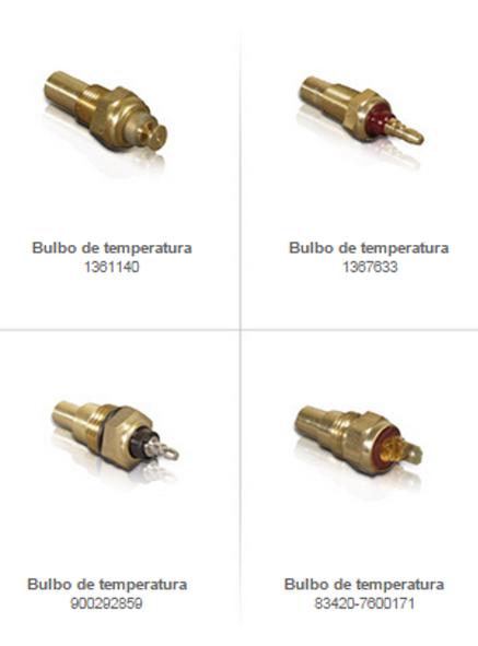 bulbos de temperatura partes refacciones enfriamiento montacargas mexico