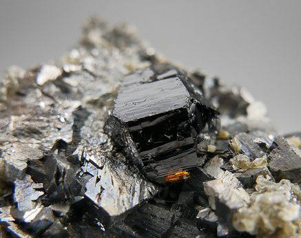 Cassiterite with Arsenopyrite