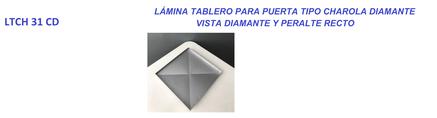 LAMINA TABLERO TIPO CHAROLA DIAMANTE CON PERALTE RECTO