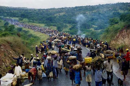 Folkemordet i Rwanda 1994,  der kostede over 1 million tutsi livet