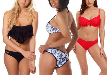 Dames in bikini. traditioneel en uitdagend