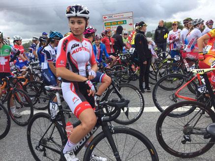 Kathrin Schweinberger Europameisterschaft Herning Dänemark Nationalteam Rad Österreich ÖAMTC tomsiller.at Radclub Tirol Regionalsport  Brigit Woisetschläger Vomp