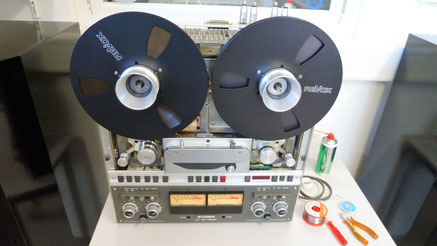 Bandmaschine  Revox A700 in der Restaurationsphase