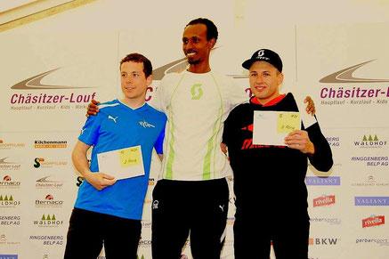 3. Platz hinter Marco Trummer und dem Sieger & Trainingskollegen Mekonen Tefera