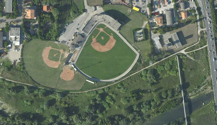 Rimini stadio baseball foto satellitare