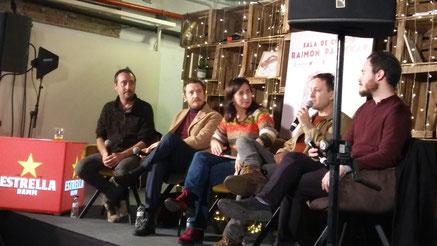 D'esquerra a dreta (Adrià Pujol, Rubén Martín, Carme Fenoll, Max Besora i Borja Bagunyà