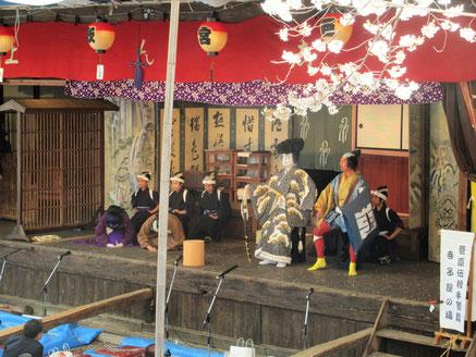 東町歌舞伎保存会による歌舞伎