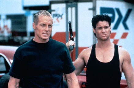 Bryan Genesse mit Frank Zagarino; Cyborg Cop III