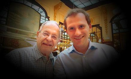Avec le professeur Louis Sabourin à Paris au restaurant Chartier