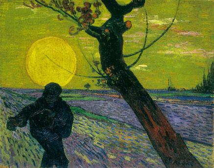"""Vincent Van Gogh, """"Il seminatore con sole al tramonto"""" (1888)"""