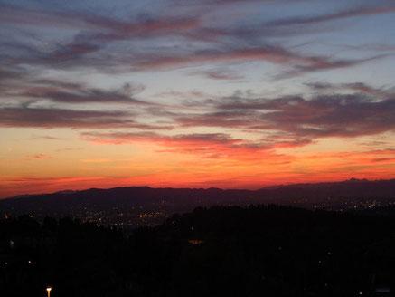 Italien Fiesole Sonneuntergang