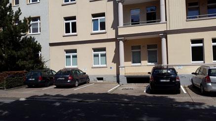 Parkplatz an der Zahnarztpraxis Dr. Kaufmann