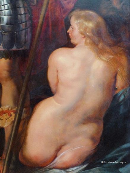 Die Frau mit üppigen Formen, Detail eines Gemäldes von Rubens, A. P. München, Foto: privat