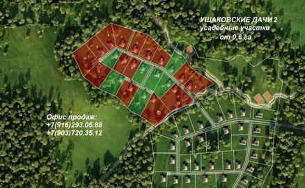 генплан усадьбы ушаковские дачи-2, истринское водохранилище