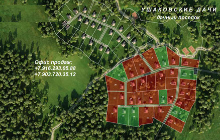 генплан усадьбы ушаковские дачи, истринское водохранилище