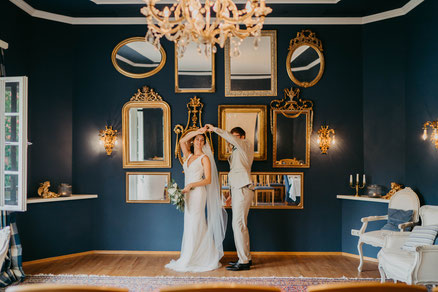 Hochzeit im Blauen Salon
