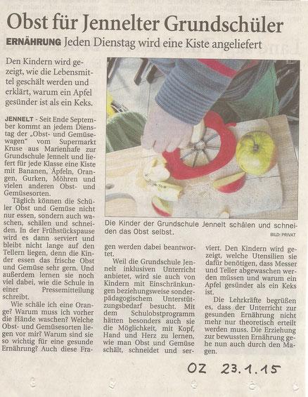 Ostfriesen-Zeitung 23.01.2015