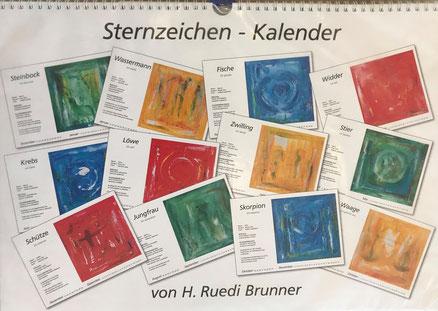 """Sternzeichen-Kalender Serie """"abstract"""" von brunner-art.ch"""