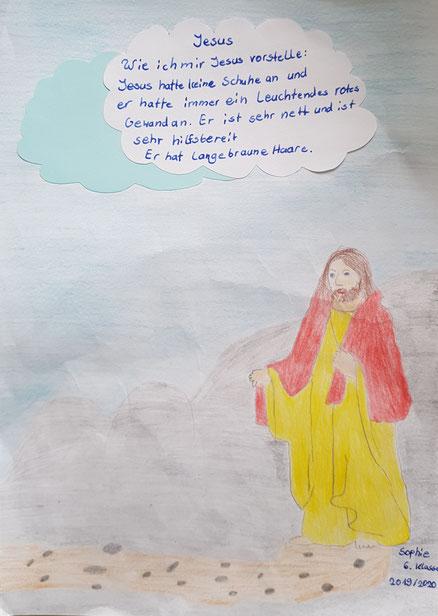 Thema: Wie stelle ich mir Jesus vor? (Klasse 6 / Sept. 2019)