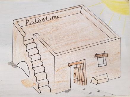 Postkarte aus Palästina zur Zeit Jesu (Klasse 6 / Dez. 2019)