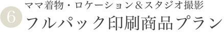 【⑥ママ着物付き・ロケスタフルパック印刷商品プラン】