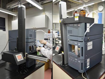 溶媒交換時                溶媒トレイ設置時