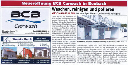 BCB Carwash Neueröffnung