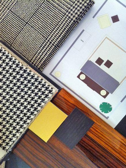 Modernes Interieur im Stil des französischen Art Deco