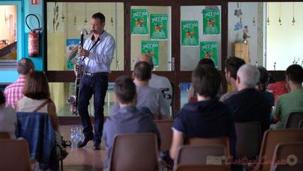 Festival JAZZ360 2015, Cénac. Conférence jouée par Thomas Savy. Photographie : Christian Coulais