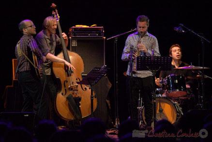 Festival JAZZ360 2015, Jean-Claude Oleksiak Quartet, salle culturelle de Cénac. Photographie : Christian Coulais