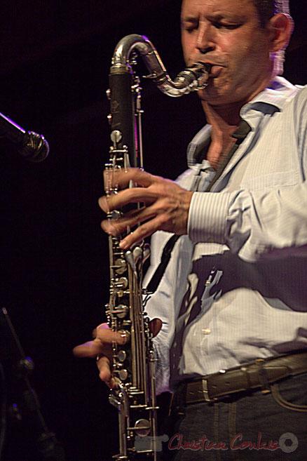 Clarinette basse de Thomas Savy. Festival JAZZ360 2015, Cénac, 13/06/2015