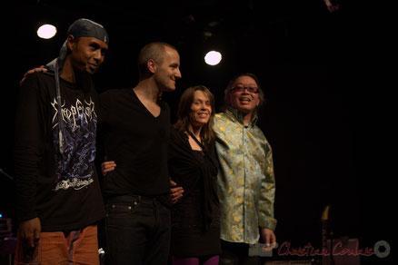 Festival JAZZ360 2012, Céline Bonacina Trio & N'Guyen Lê, salle culturelle de Cénac. Photographie : Christian Coulais