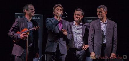 Jean Lardanchet, Laurent Vincenza, Sylvain Pourrat, Yannick Alcocer, Minor Sing. Festival JAZZ360, salle des fêtes de Latresne. Photographie : Christian Coulais