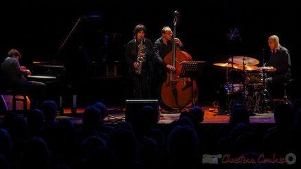 """Géraldine Laurent """"At work"""" Quartet, Festival JAZZ360 2016, salle culturelle de Cénac. Photographie : Christian Coulais"""