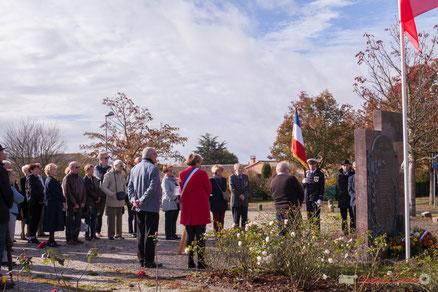 99ème anniversaire de la Commémoration de l'Armistice du 11 novembre 1918, Cénac. 11 novembre 2017