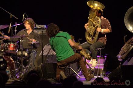 Festival JAZZ360 2012, Manguidem Taf Taf Trio, salle culturelle de Cénac. Photographie : Christian Coulais