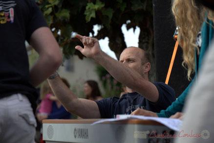 Festival JAZZ360, Cénac. Rémi Poymiro, directeur du Big Band Jazz du Collège de Monségur. Photographie : Christian Coulais